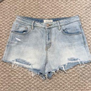 PacSun Los Angeles distress jean shorts women-28